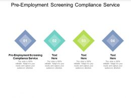 Pre Employment Screening Compliance Service Ppt Powerpoint Presentation File Tips Cpb