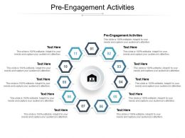 Pre Engagement Activities Ppt Powerpoint Presentation Ideas Design Inspiration Cpb