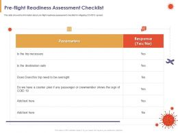Pre Flight Readiness Assessment Checklist Safe Powerpoint Presentation Format Ideas