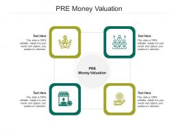 PRE Money Valuation Ppt Powerpoint Presentation Styles Brochure Cpb