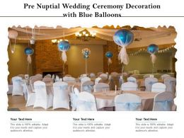Pre Nuptial Wedding Ceremony Decoration With Blue Balloons