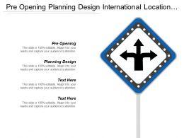 Pre Opening Planning Design International Location Distribution Location Cpb