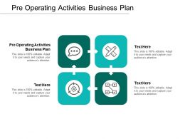 Pre Operating Activities Business Plan Ppt Powerpoint Presentation Ideas Graphics Cpb