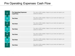 Pre Operating Expenses Cash Flow Ppt Powerpoint Presentation Model Graphics Cpb