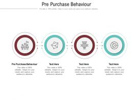 Pre Purchase Behaviour Ppt Powerpoint Presentation Inspiration Templates Cpb