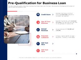 Pre Qualification For Business Loan Collateral Ppt Powerpoint Presentation Summary Slides