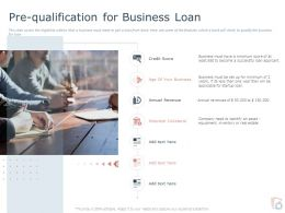 Pre Qualification For Business Loan Ppt Powerpoint Presentation File