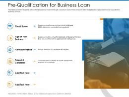 Pre Qualification For Business Loan Startup Ppt Powerpoint Presentation Styles Graphic Tips