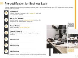 Pre Qualification For Business Loan Year Ppt Powerpoint Presentation Inspiration Templates