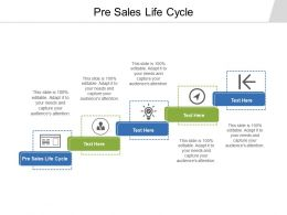 Pre Sales Life Cycle Ppt Powerpoint Presentation Portfolio Visual Aids Cpb