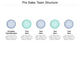 Pre Sales Team Structure Ppt Powerpoint Presentation Slides Aids Cpb