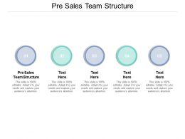 Pre Sales Team Structure Ppt Powerpoint Presentation Slides Aids Cpb