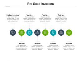 Pre Seed Investors Ppt Powerpoint Presentation Inspiration Show Cpb