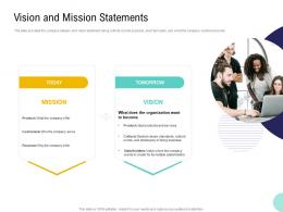 Pre Seed Money Pitch Deck Vision And Mission Statements Ppt Powerpoint Slide Portrait