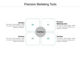 Precision Marketing Tools Ppt Powerpoint Presentation Layouts Diagrams Cpb