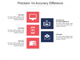 Precision Vs Accuracy Difference Ppt Powerpoint Presentation Professional Slide Cpb