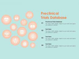 Preclinical Trials Database Ppt Powerpoint Presentation Show Deck