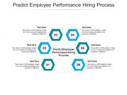 Predict Employee Performance Hiring Process Ppt Powerpoint Presentation Slides Deck Cpb