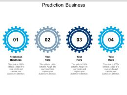 Prediction Business Ppt Powerpoint Presentation Model Show Cpb