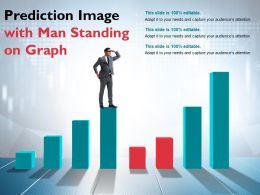Prediction Image With Man Standing On Graph