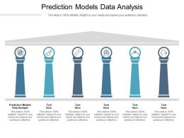 Prediction Models Data Analysis Ppt Powerpoint Presentation Infographic Template Format Cpb