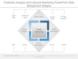 Predictive Analysis And Lifecycle Marketing Powerpoint Slide Background Designs