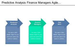 Predictive Analysis Finance Managers Agile Overview Healthcare Management Strategies Cpb
