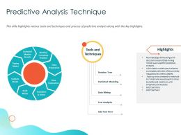 Predictive Analysis Technique Anticipate Ppt Powerpoint Presentation Professional Model