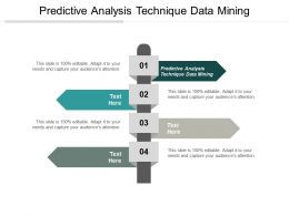 Predictive Analysis Technique Data Mining Ppt Powerpoint Presentation Infographic Template Clipart Cpb