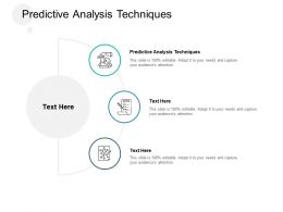 Predictive Analysis Techniques Ppt Powerpoint Presentation Styles Structure Cpb