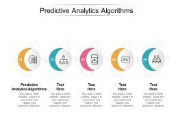 Predictive Analytics Algorithms Ppt Powerpoint Presentation Slides Summary Cpb