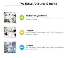 Predictive Analytics Benefits Ppt Powerpoint Presentation Styles Display Cpb