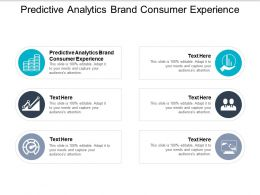 Predictive Analytics Brand Consumer Experience Ppt Powerpoint Presentation Gallery Professional Cpb