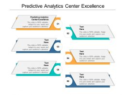 Predictive Analytics Center Excellence Ppt Powerpoint Presentation Cpb