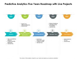 Predictive Analytics Five Years Roadmap With Live Projects