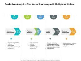 Predictive Analytics Five Years Roadmap With Multiple Activities