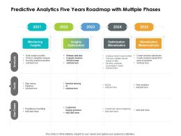 Predictive Analytics Five Years Roadmap With Multiple Phases