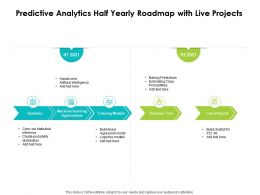 Predictive Analytics Half Yearly Roadmap With Live Projects