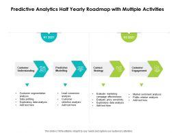 Predictive Analytics Half Yearly Roadmap With Multiple Activities