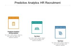 Predictive Analytics HR Recruitment Ppt Powerpoint Presentation Structure Cpb