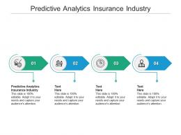 Predictive Analytics Insurance Industry Ppt Powerpoint Presentation Show Icons Cpb