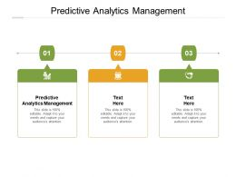 Predictive Analytics Management Ppt Powerpoint Presentation Portfolio Design Cpb