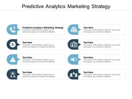 Predictive Analytics Marketing Strategy Ppt Powerpoint Presentation Pictures Display Cpb
