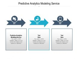 Predictive Analytics Modeling Service Ppt Powerpoint Presentation Summary Inspiration Cpb