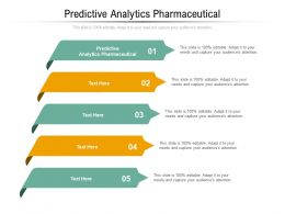Predictive Analytics Pharmaceutical Ppt Powerpoint Presentation Portfolio Guide Cpb