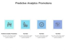 Predictive Analytics Promotions Ppt Powerpoint Presentation Styles Outfit Cpb