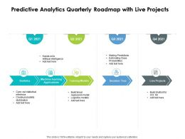 Predictive Analytics Quarterly Roadmap With Live Projects