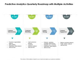 Predictive Analytics Quarterly Roadmap With Multiple Activities