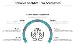 Predictive Analytics Risk Assessment Ppt Powerpoint Presentation Show Graphics Cpb
