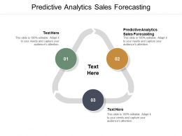 Predictive Analytics Sales Forecasting Ppt Powerpoint Presentation Model Graphics Cpb